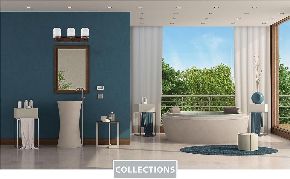 craftmade lighting, bath vanity lighting, modern bath, glass bath vanity, traditional vanity lights