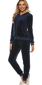 velour sweatsuit for women