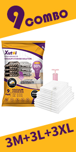 Storage vacuum bags for clothes