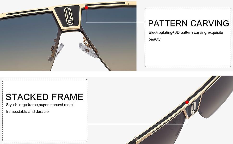 sunglasses nose pad pilot square oversized
