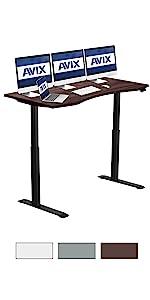 60x30 AVIX Electric height adjustment Standing desk walnut