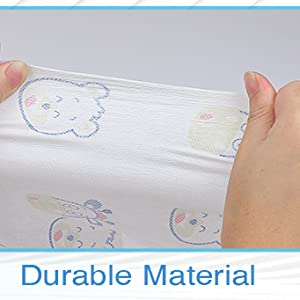 Soft Non-woven fabric plus PE bottom, aim to provide ultra comfort and waterproof barrier.