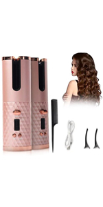 Automatic Cordless Curlers Pink