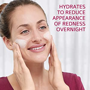 Hydrates to reduce appearance of redness overnight