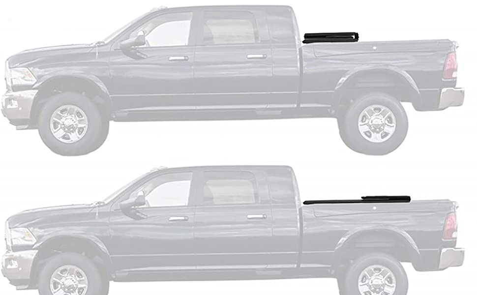 Soft Trifold Tonneau Cover Truck Bed