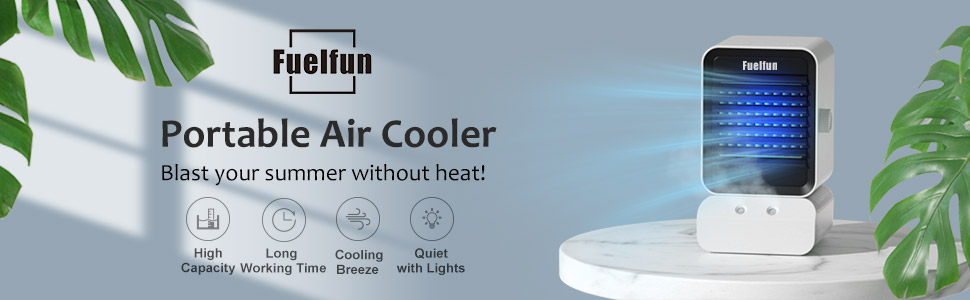 Air Cooler Conditioner AC Fan Portable Evaporative Humidifier Water Tank Quiet Iced Personal Mini