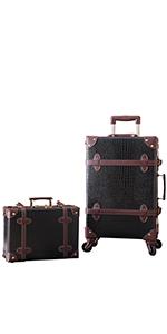 Black alligator suitcase