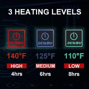 3 heating levels
