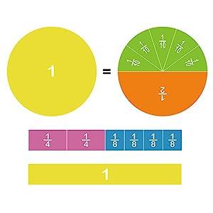 Magnetic fraction tiles for 3rd grade/ 4th grade/ 5th grade