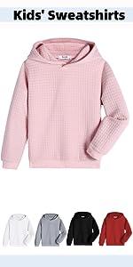 Boyoo Kid's Sweatshirt Plaid Jacquard Hoodie Fashion Pullover