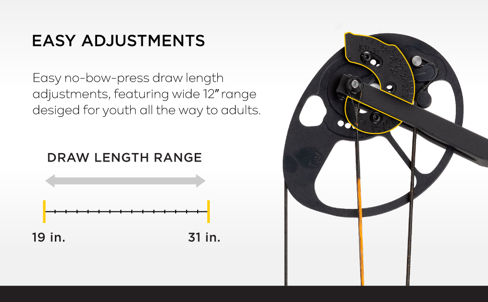 hunter backwoods wilderness draw length pressure adjustments crank adults wide range driver string