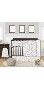 5 Piece Crib Bedding Set
