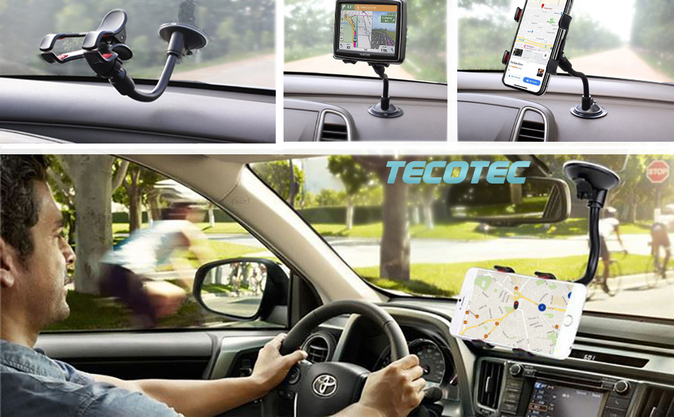 TECOTEC Phone Mount for Car Dashboard and Windshield, Phone Holder for car, Gift, Present