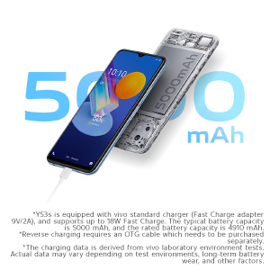 5000mAh Battery + 18W Fast Charge