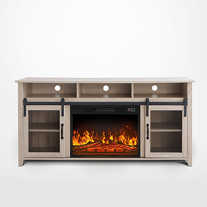 electric fireplace storage cabinet