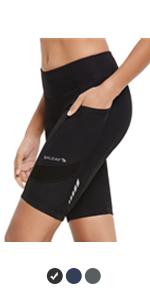womens padded cycling shorts