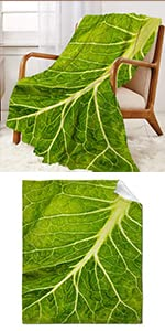 Lettuce Throw Blanket Super Soft Warm and Comfortable