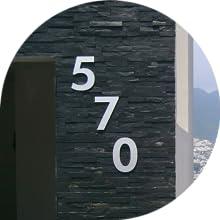 570 on dark wall