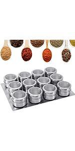 12 pots à épices