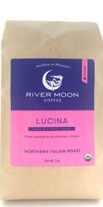 Espresso ground coffee organic 2lbs 32 oz gourmet  non gmo medium roast fine grind river moon