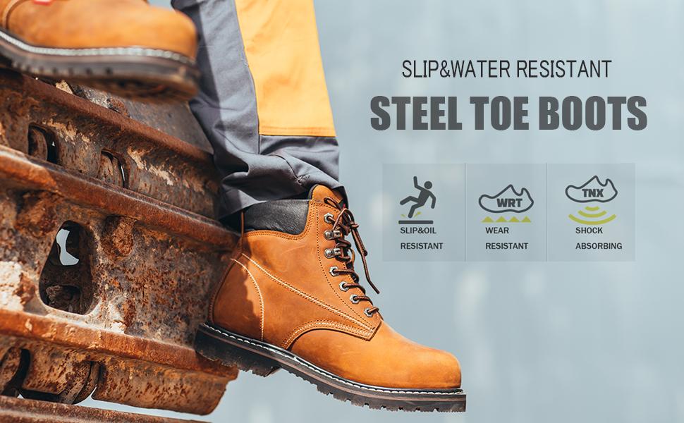 steel toe work boots