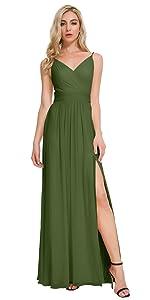 Martini Olive Bridesmaid Dress