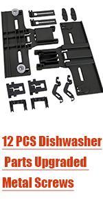 12 Dishwasher Parts Upper Rack