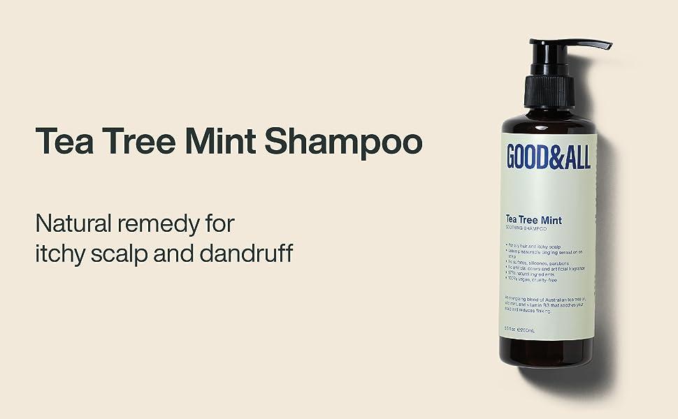 GOODamp;ALL Tea Tree Mint Shampoo for itchy scalp and dandruff