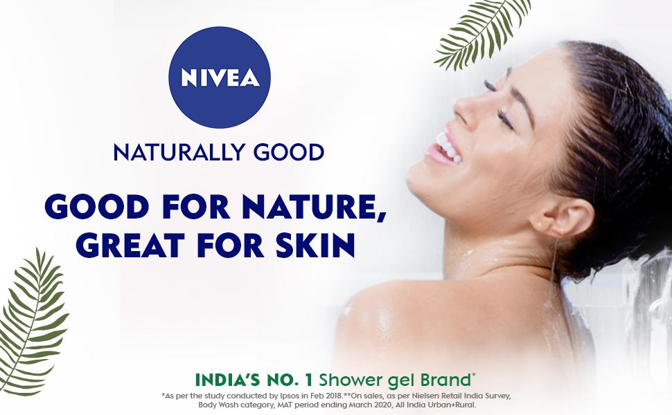 NIVEA,Women,Shower Gel,Natural Ingredients, Body Wash,