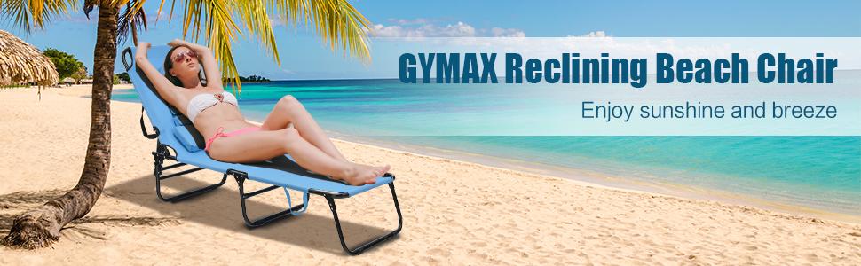 GYMAX Chaise lounge chair