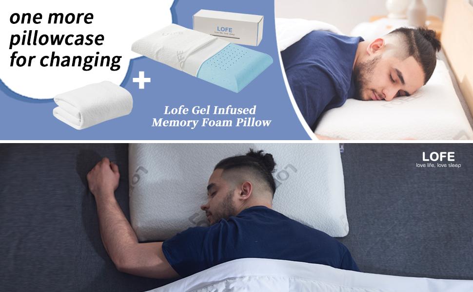 lofe gel infused memory foam pillow