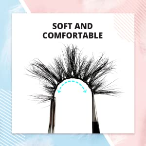 soft fluffy wispy comfortable lashes