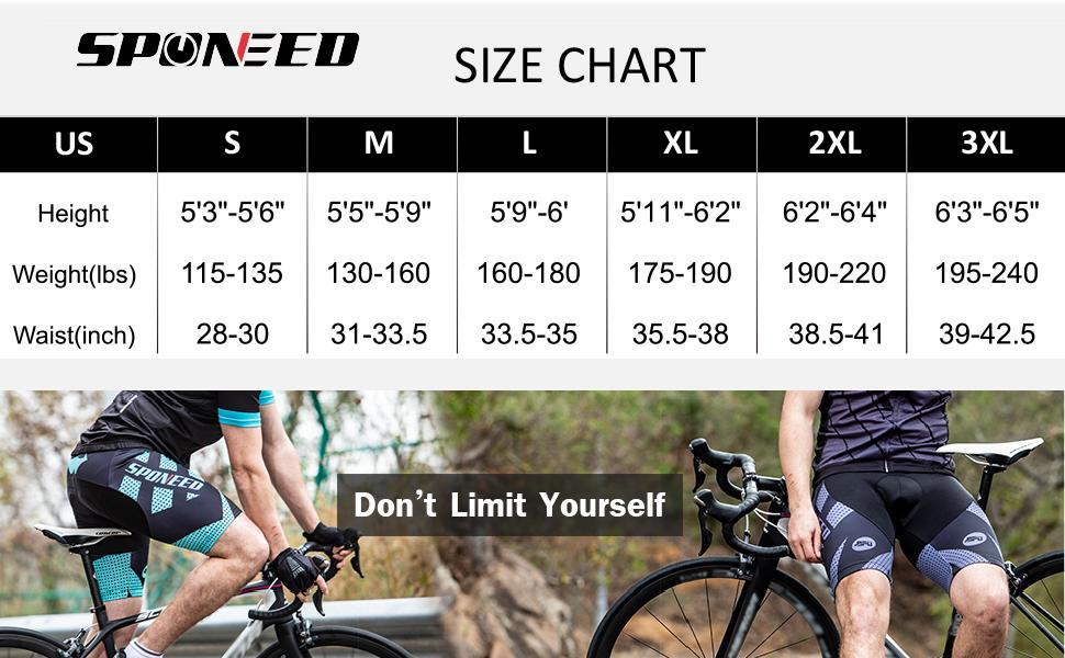 size for biking shorts