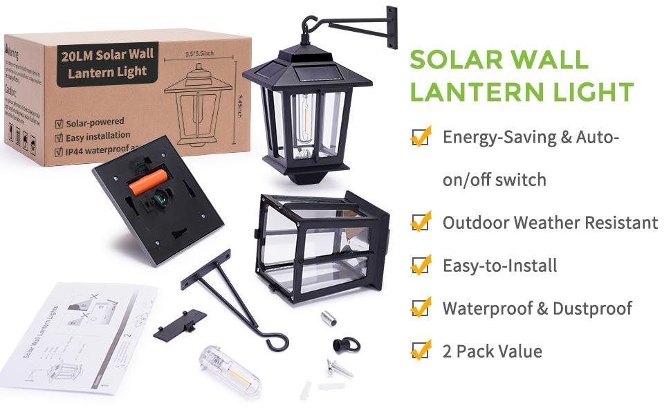 solar wall lantern light