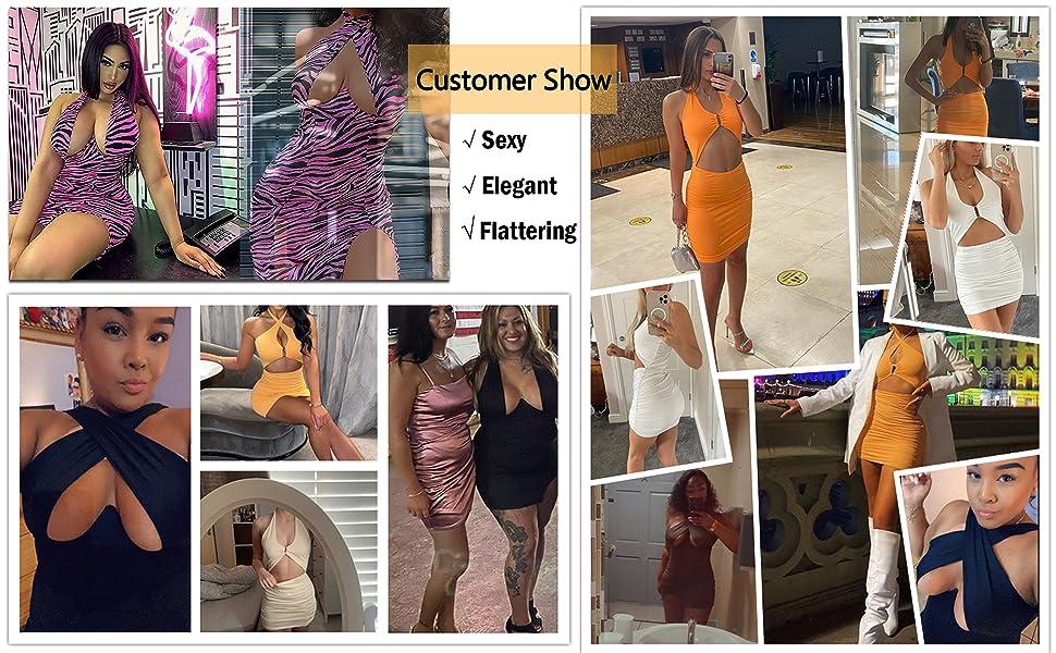 Women club mini dress