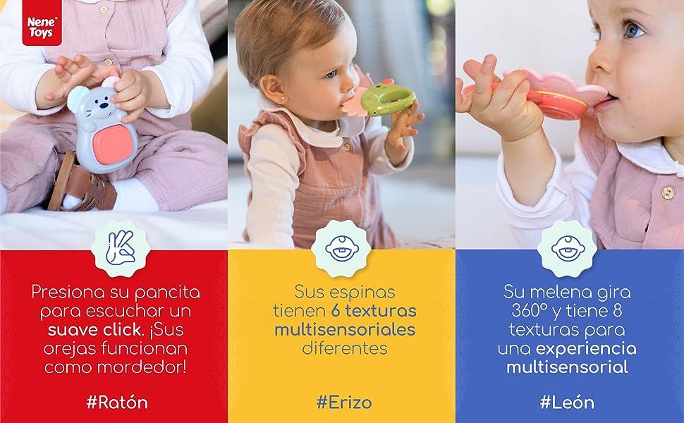 rattle estimulacion temprana encias recien nacidos 0 3 6 9 12 meses sensoriales mordedor sonajero