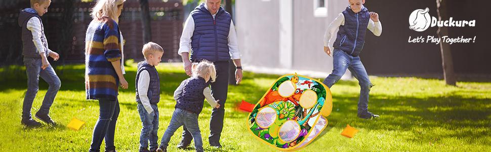 Bean bag toss game set for kids