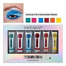 6pc matte eyeshadow cream