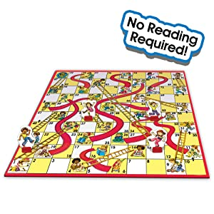 Classic Chutes & Ladders Gameboard
