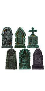6 Packs Halloween Tombstones