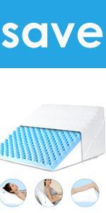 Bed Wedge Pillow Home Body Pillow Leg Pillow Memory Foam Cushion Bed/Sofa