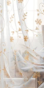 rod pocket drops set of two voile fabric summer crinkle curtain short sheer curtains