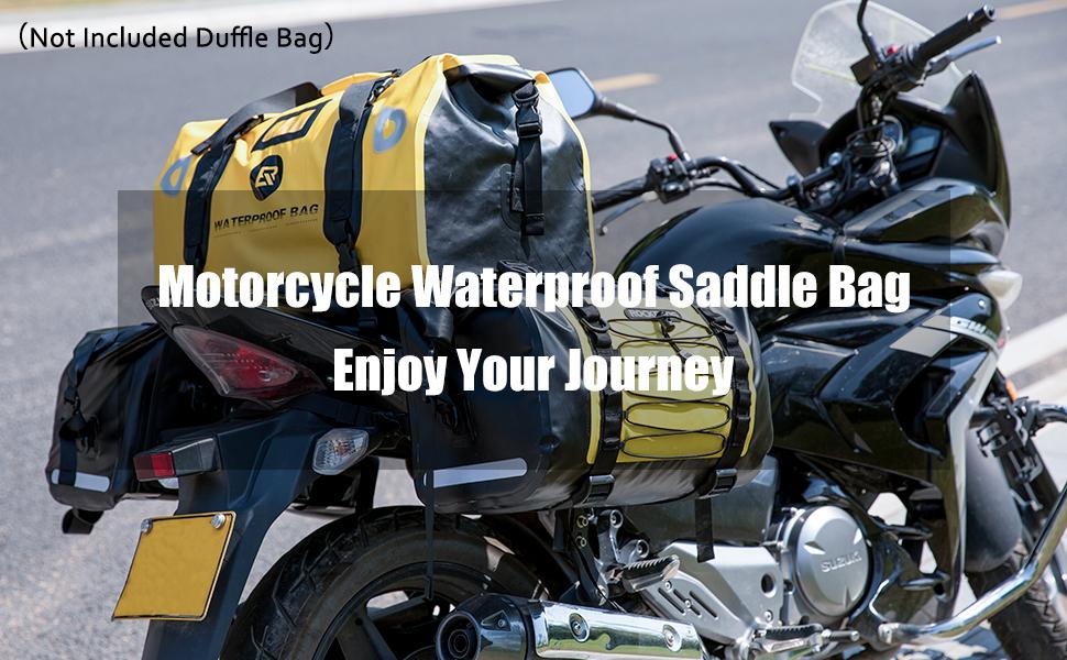 Motorcycle saddlebag waterproof