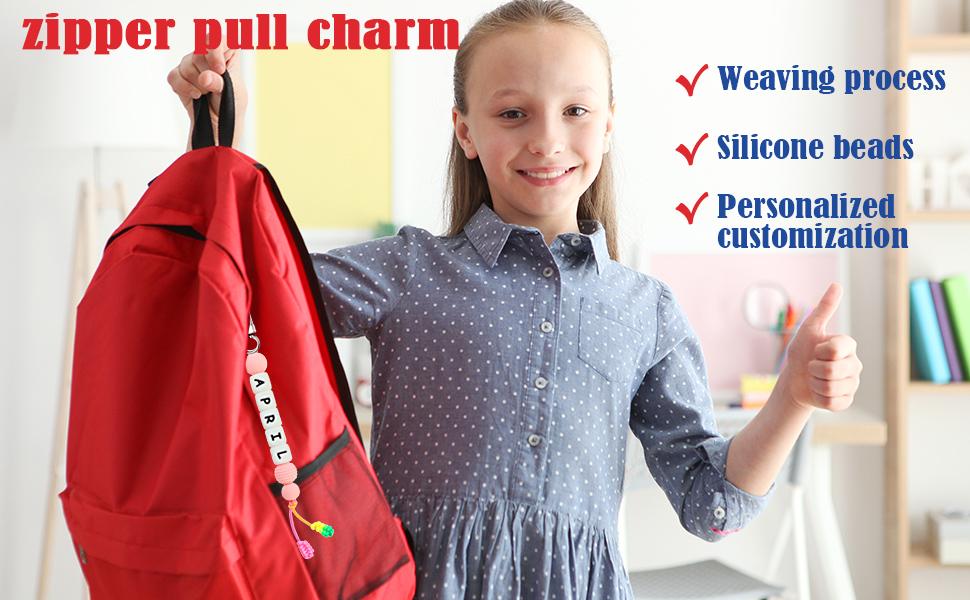 Personalized Zipper Charm