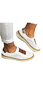 Walking Shoes for Women Canvas Shoes Casual Round Toe Loafers Sneakers