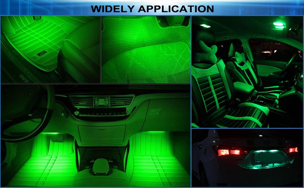 can be use as license plate light, map light, dome light,  glove box light, trunk light etc.