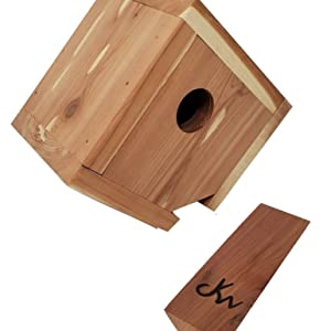 Wakefield Birdhouse with a removable perch for easy cleaning after each season