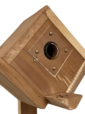 Wakefield Post-Mount Birdhouse with Predator Guard to Attract a Variety of Birds