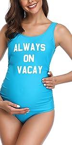 blue letter maternity swim