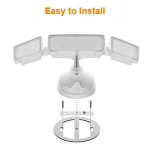 easy to install flood light